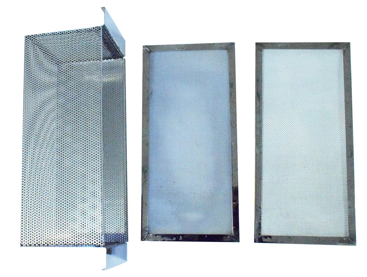 Perforated basket with filtration stainers